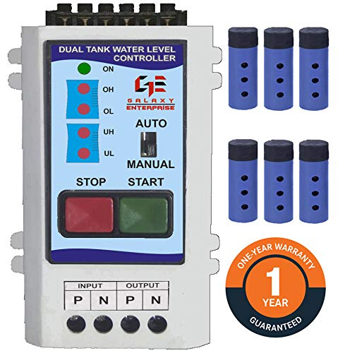 The Galaxy Enterprise Single Phase and 3 Phase Dual Tank Fully Automatic Water Level Controller with Dry Run Protection for Sump Water Pump (Load Capacity 1-10 HP)