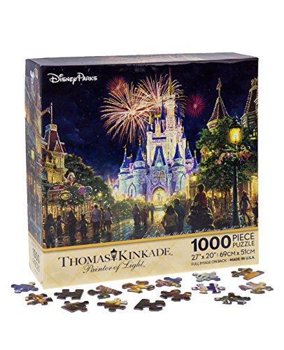 Walt Disney World Thomas Kinkade Main Street U.S.A. Fireworks 27x20 1000 Piece Puzzle by Disney