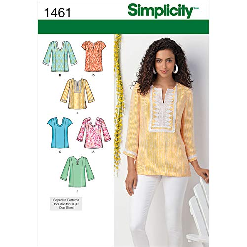 Simplicity Patterns 1461 Misses Tunic with Neckline and Sleeve Variations Sizes 10-12-14-16-18