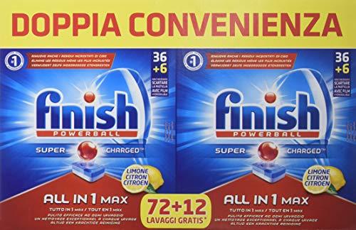 Finish All in 1 Max Pastiglie Lavastoviglie, Limone, 84 Tabs