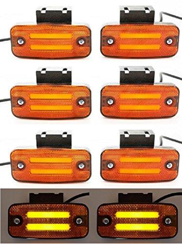 8x 24V LED arancione neon Outline marcatore luci laterali con staffe per rimorchio telaio camion...