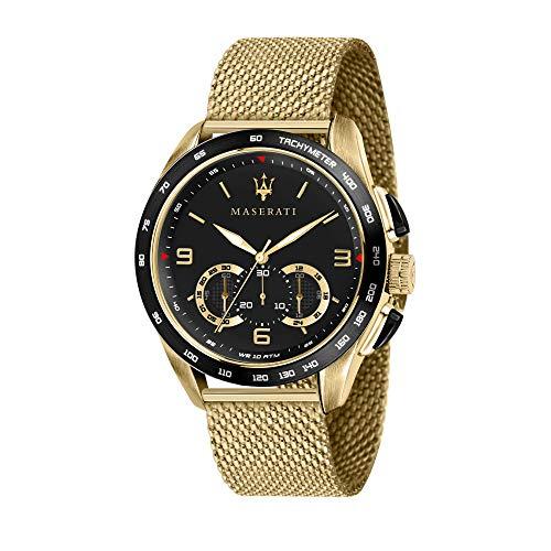 Orologio da uomo, Collezione Traguardo, con movimento al quarzo e funzione cronografo, in acciaio e...