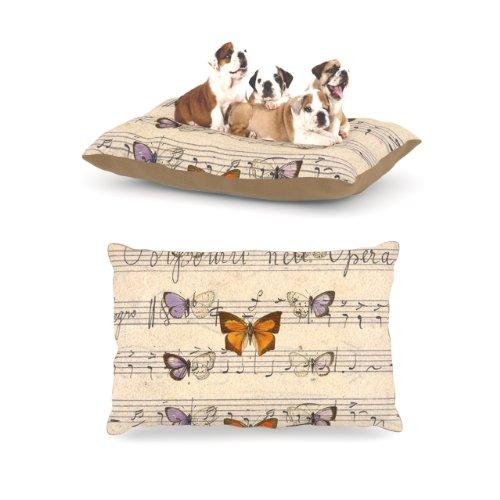 Kess internos de Suzanne Carter Mariposa Opera La Música marrón Forro Polar Perro Cama, 30por 40Pulgadas