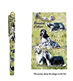 Bearded Collie Gift. Beautiful Rollerball Pen with black velvet pouch.