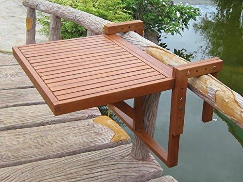 Unbekannt Balkon Hänge Tisch 100{275adef008dc3f48b8f19b2ee8ad59874f44a1b80a1b2545e542f81ec70eeac1} FSC Eukalyptus geölt Außen Möbel höhen tiefen verstellbar Harms 985089