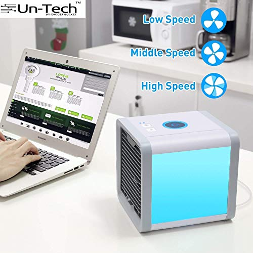 Gadgetbucket Arctic Portable 3 in 1 Conditioner Humidifier Purifier Mini Air Cooler (White/Blue)