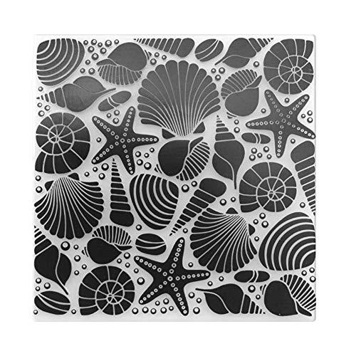 fustelle di taglio conchiglia Shell stampa DIY scrapbooking Stencil di cartella di Stencil di...