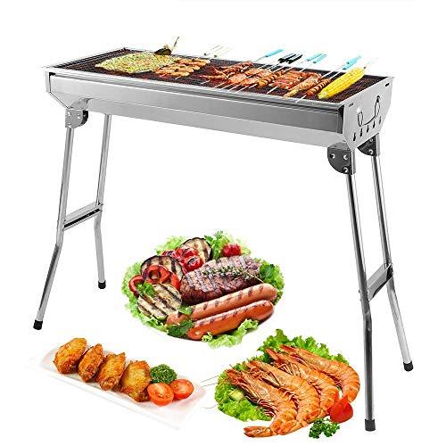 Mbuynow BBQ Barbecue a carbone di tavolo in acciaio inossidabile pieghevole Forno Griglia di Cottura...