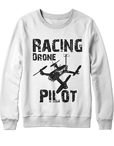 Sweatshirt Drones Drone Racing Pilot H970035 Bianco M