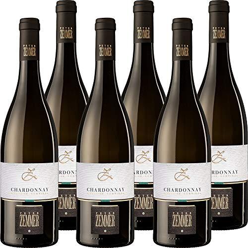 Chardonnay DOC | Peter Zemmer | Vino Bianco Alto Adige | Confezione 6 Bottiglie da 75 Cl | Idea Regalo