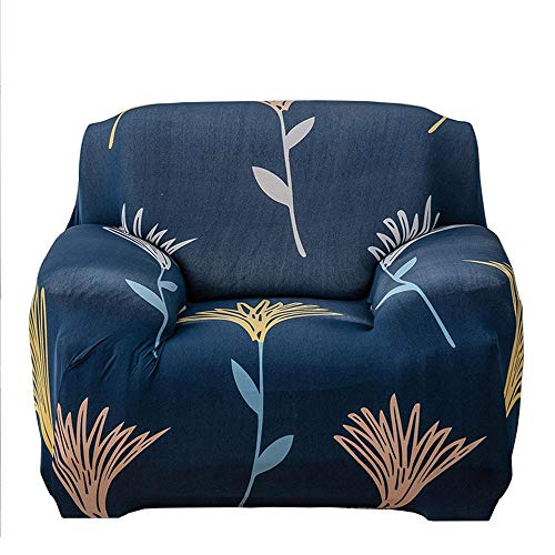 Geggur Stretch 3 Seater Flower Bird Leaves Pattern Sofa Slipcovers Full Covered Sectional Sofa Covers