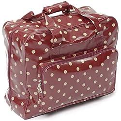 Hobby Gift Bolsa para máquina de costura, color rojo con lunares blancos