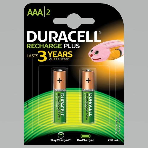 Duracell Recharge Plus AAA - 750 mAh Batteries -Pack of 2