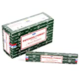 Original Satya Sai Nag Champa Patchouli Forest Insence Sticks 15g Box of 12 Packs Agarbatti by Nag Champa
