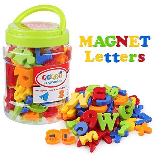 Coogam Lettere Magnetiche e Numeri per Bambini Simboli Matematici A-Z Alfabeto Magneti del...