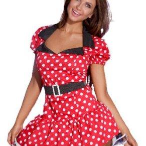 r-dessous - Vestido de Mickey con orejas, cinturón y tanga, diseño de Minnie Mouse