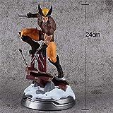 HAIZI FIGURE X-Men Wolverine Modèle Statue De Tête Modifiable Décoration De La Maison -24cm