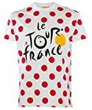 Le Tour de France - Camiseta oficial del Tour de Francia, talla de adulto, para hombre, Le Tour de France, color blanco, tamaño small