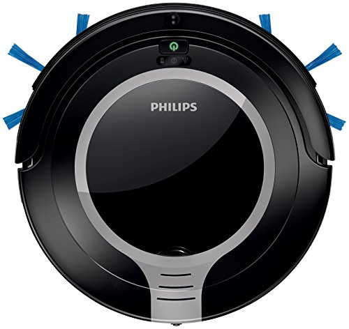 Philips SmartPro Compact FC8710/01 aspirapolvere robot Senza sacchetto Nero, Metallico, Argento 0,25...