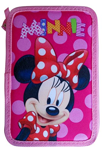 Paxos 82942Astuccio Triplo Scomparto tessuto 13x 20x 6cm-Disney-Minnie