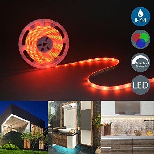 Striscia a LED RGB dimmerabile, lunga 5m, cambia colore con telecomando, illuminazione notturna da...