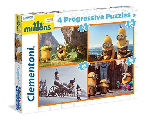 Clementoni 21511 - Set di 4 Puzzle Progressivi, Minions, 12/20/24/35 Pezzi
