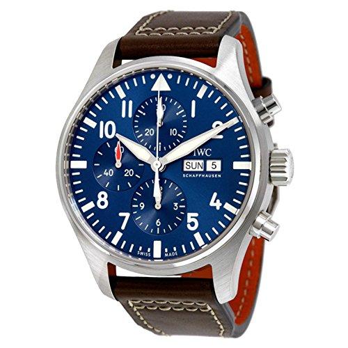 Porsche Herren 43mm braun Leder Band Stahl Fall S. Saphir Automatik blau Zifferblatt analoge Uhr iw377714