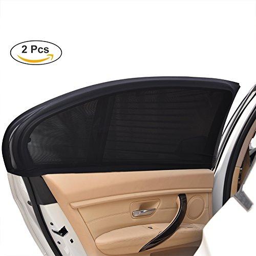 Uarter Auto Sonnenschutz Kinder Sonnenblende Auto mit UV Schutz Sonnenschutzrollo Auto für Seitenfenster Meshmaterial Schützt Mitfahrer, Baby, Kinder & Haustiere, 2-er (96 X 78cm)