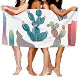 Toallas Decoradas Diseño De Desierto Lobo y Cactus