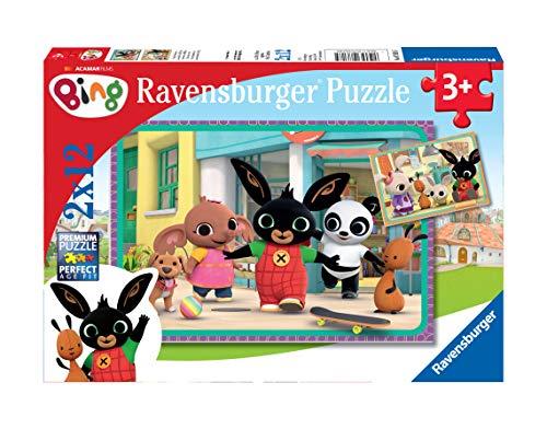 Ravensburger 07618 Bing Puzzle, 2 x 12 Pezzi
