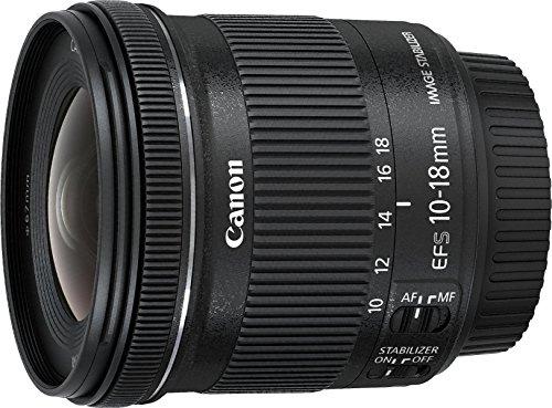 Canon Obiettivo Ultragrandangolare con Zoom, EF-S 10-18 mm f/4.5-5.6 IS STM, Stabilizzatore...