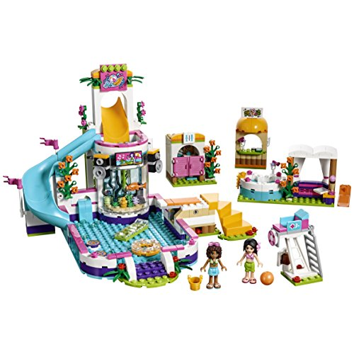 lego friends la piscine d 39 heartlake city 41313 jeu. Black Bedroom Furniture Sets. Home Design Ideas
