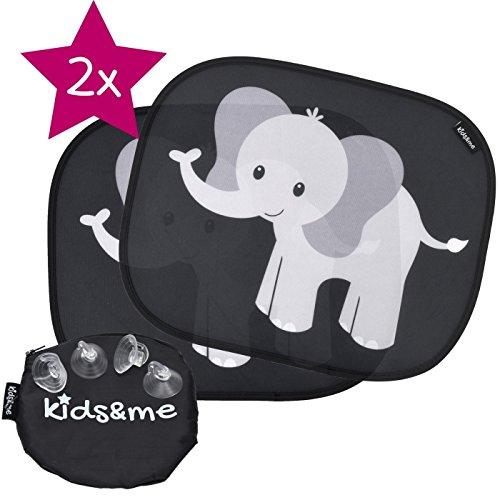 kids&me Premium Auto-Sonnenblende für Baby und Kind mit TOP Saugnäpfen