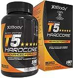 T5 Hardcore Bruleur de Graisses pour Hommes et Femmes Contient de la L-Tyrosine, du Chrome, de la Vitamine B6 et des Extraits Botaniques Vu dans Men's Health et Fabriqué au Royaume-Uni (180 capsules végétariennes)