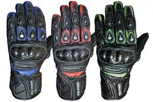 German Wear Motorradhandschuhe Motorrad Biker Handschuhe Lederhandschuhe 12