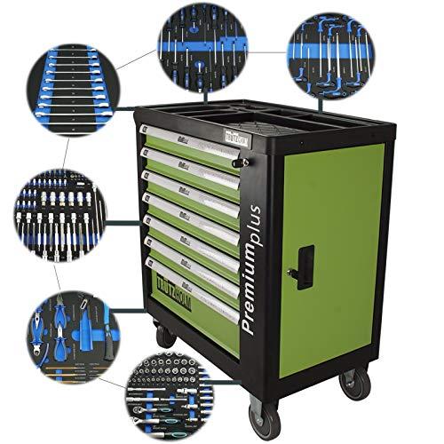TRUTZHOLM® Werkstattwagen Premium Profi bestückt Montagewagen gefüllt Werkzeugwagen Assistent (Premium XXL bestückt)