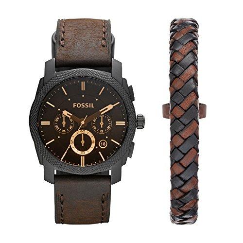 Fossil Herren-Uhren FS5251SET, Schwarz
