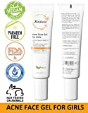 KIRIKURA Vegan ACNE Face Gel for Girls, clean and clear face gel with Salicyclic Acid, Cinnamom Bark Extract, Nicotinamide, Tea Tree Oil for Girls.