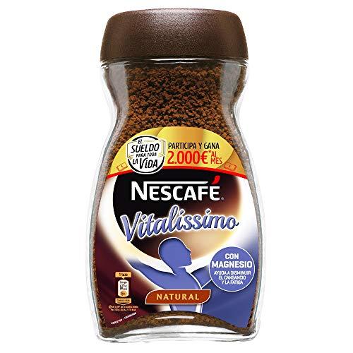 NESCAFÉ Café Vitalissimo Soluble Natural, Bote de cristal, Paquete de 3x200g de Café - Total 600 g