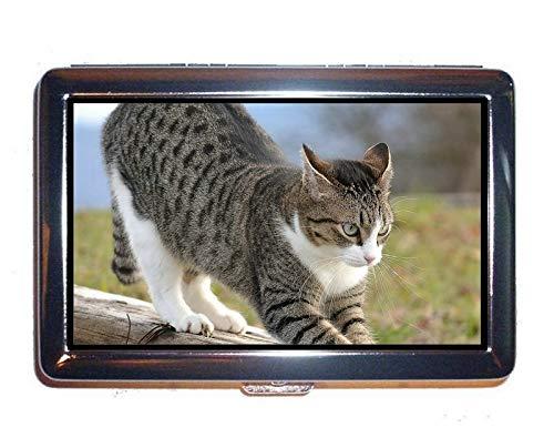 Portafoglio o portasigarette, Custodia porta biglietti da visita animali di gatto