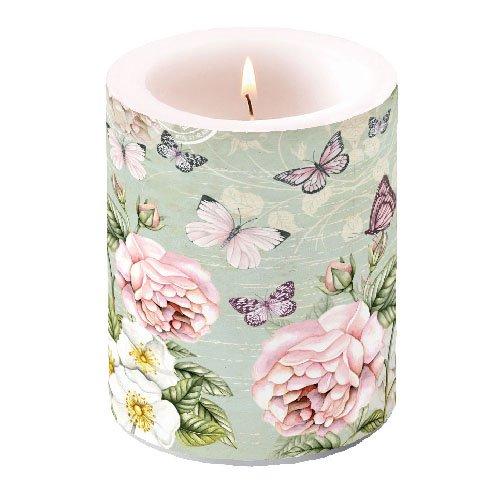 Vela 12cm de altura, 10cm diámetro Mariposas Butterfly Butterflies vintagetier Verano Flores