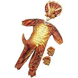 Baoblaze Bebé Toddle Niños Traje de Triceratops Dinosaurio Disfraces de Halloween - Rojo