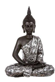 dcasa – Figura buda de suerte sentado resina 30 cm decoracion