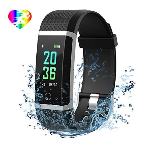 Mpow Fitness Tracker IP67 Schermo a Colori, Monitoraggio del Sonno, Cardiofrequenzimetro,...