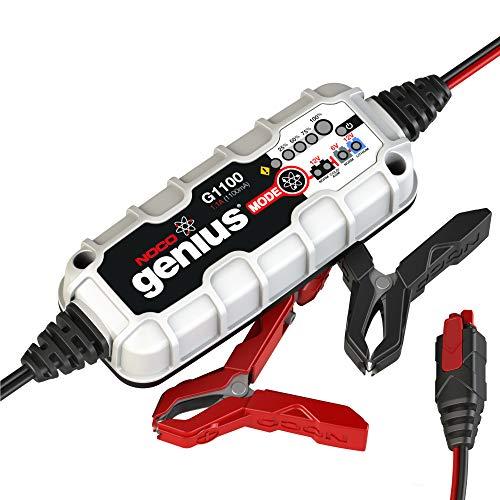 NOCO Genius G1100EU 6V / 12V 1.1 Amp UltraSafe Smart Battery Charger and Holder