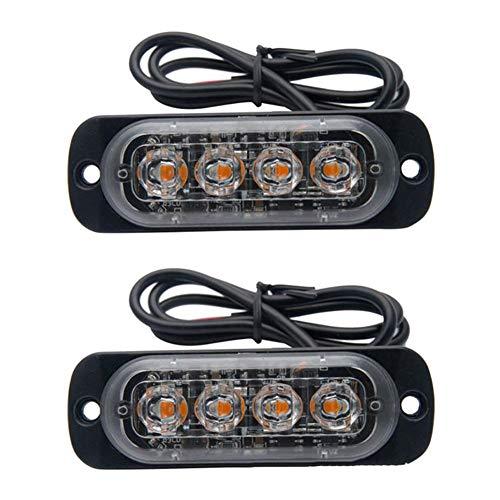 Luci Stroboscopiche Lampeggianti 12V 24V Luci Stroboscopiche Spie Sottili Bianche LED Semaforo...