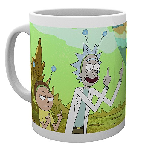 GB eye – Taza, diseño de Rick y Morty paz, multicolor