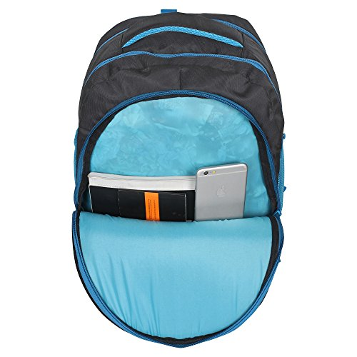 Sassie Polyester 41 L Black Blue School and Laptop Bag with 3 Large Compartments 6