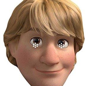 empireposter Kristoff–Frozen Máscara de Cartón (Efecto Satinado, Agujeros en los Ojos y Cinta de Goma, tamaño 30x 20cm