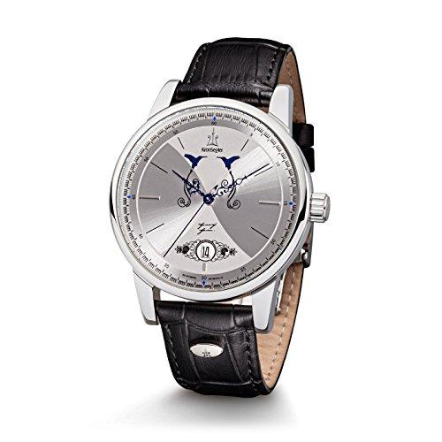 Kronsegler Herren KS 902 Automatik Deutsche Dichter Uhr Schwarz/Silber